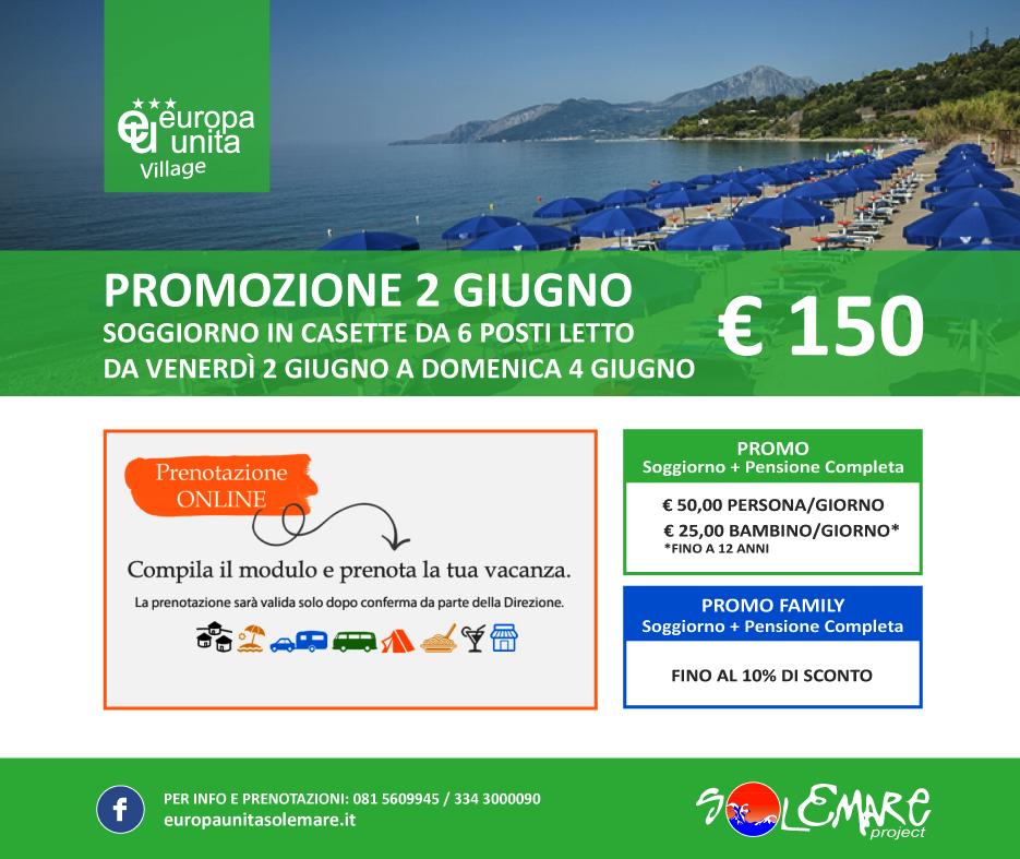 Ponte del 2 giugno al Camping Villagge Europa Unita