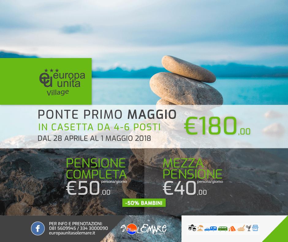 Ponte del primo maggio offerte camping village europa unita for Ponte del secondo piano