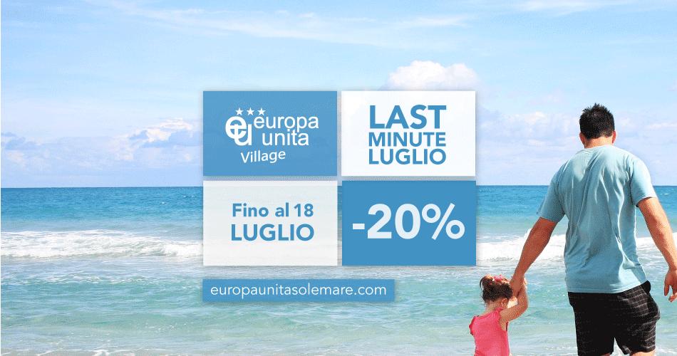 Last minute: prenota entro il 25 giugno e ottieni il 20% di sconto sulle nostre strutture!